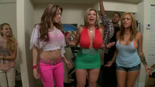 Beer pong in a dirty way with Courtney Cummz, Sara Jay and Jamie Valentine thumb