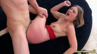 Wild screams by hussy girl getting her pussy fucked hard thumb