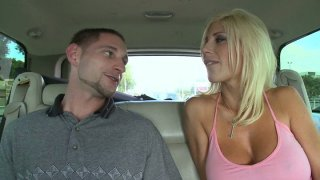 Street slut Puma Swede gives blowjob in the car thumb