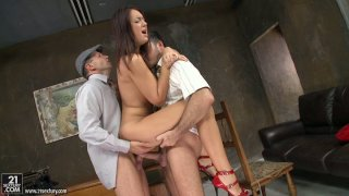 Awesome DP scene of insatiable brunette chick Malaya thumb