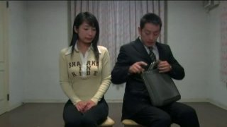 Lonely Japanese girl Arisa Oda is abused by weird dude thumb