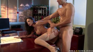 Lustful boss Claudia Valentine gets punished hard in her office thumb