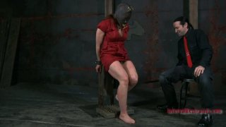 Extreme BDSM game with gorgeous redhead mommy Catherine de Sade thumb