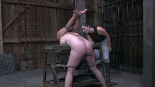 Ugly slut gets fucked in dirty BDSM sex video thumb