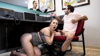 Big-dicked stud gives Lena Paul a helping hand thumb