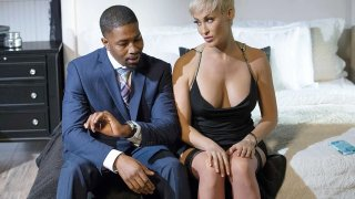 Short Haired Blonde Mature meets Big Black Cock thumb