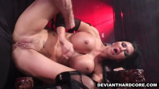 Obedient fucktoy Jasmine Jae tied up and fucked in all holes BDSM thumb