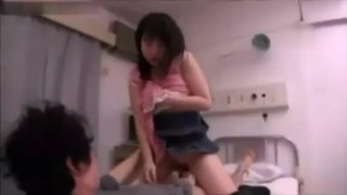 Japanese girl jealous and horny at the hospital thumb