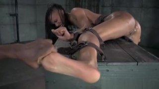 Ebony Sub Gets Feet_Dominated By Master thumb