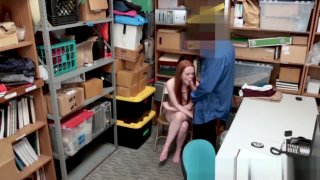 Redhead thief Ella Hughes penetrated with big dick thumb