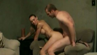 Stunning brunette MILF gets_fucked and fingered on homemade video thumb