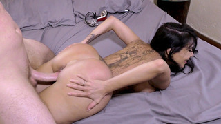 Lela Star's big fake_ass bounces with every thrust of his piston thumb