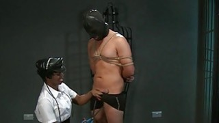 Ebony mistress interracial sex in dungeon thumb
