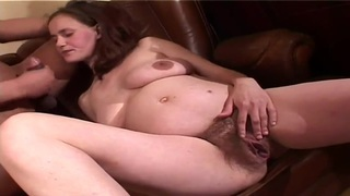 Busty pregnant whore is having some good time being fucked by her husband thumb