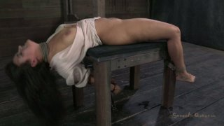 Busty tied up slut Penny Barber gets fucked mish by horny black stud thumb