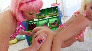Colorful toys for frisky Jayda Diamonde, Katie Angel thumb