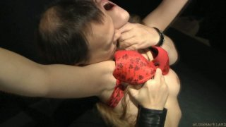 Red lingerie looks gorgeous on Tina Blade's whipped ass thumb