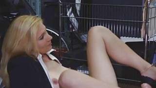 Blonde MILF Face Fucked And Facial In Pawn Shop Office thumb