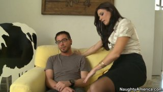 Nice blowjob and_handjob performed by lustful India Summer thumb