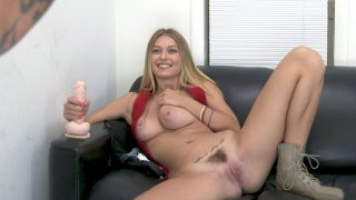 Natalia Starr shows her nice big boobs and hairy pussy thumb