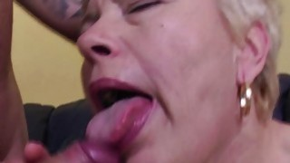 Young couple lets a mature lady join in thumb