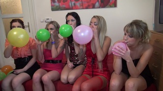 Charlotte Reed & Angel Piaff & Corrine & Eveline & Ilsa in hot college sex with a group of horny students thumb