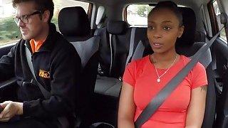 Fake driving_instructor bangs natural busty ebony thumb