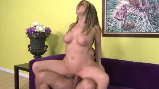 Magnificent busty lady Carlin Reese rides_on top and fucks doggystyle thumb