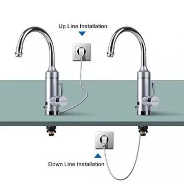 KchenArmatur mit integriertem eingebautem MiniDurchlauferhitzer
