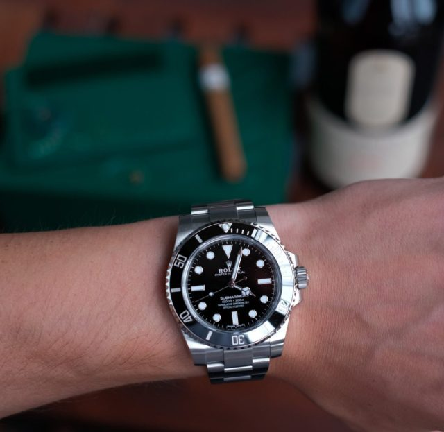 Submariner on the wrist