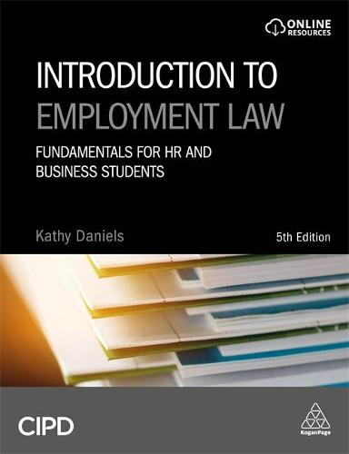 Maybe you would like to learn more about one of these? Introduction to Employment Law by Kathy Daniels | Waterstones