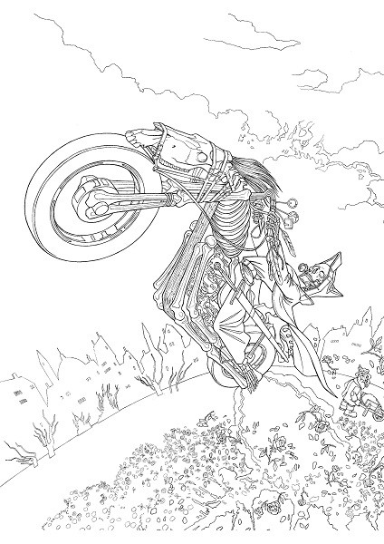Terry Pratchett's Discworld Colouring Book by Paul Kidby