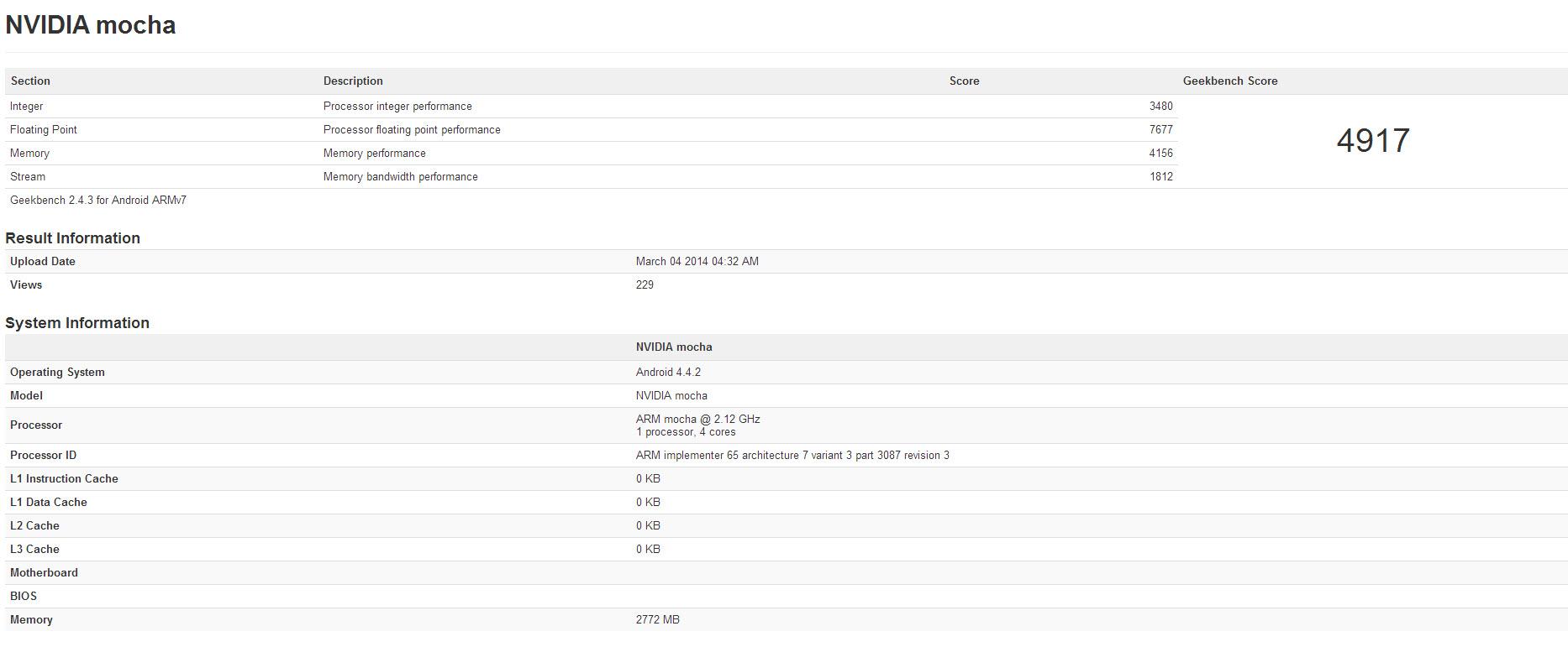 Nvidia Tegra K1 Performance And Power Consumption Revealed