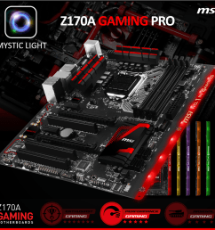 msi z170a gaming pro motherboard [ 1024 x 985 Pixel ]
