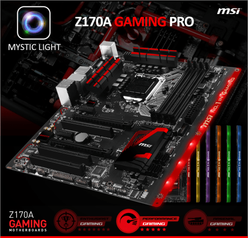small resolution of msi z170a gaming pro motherboard