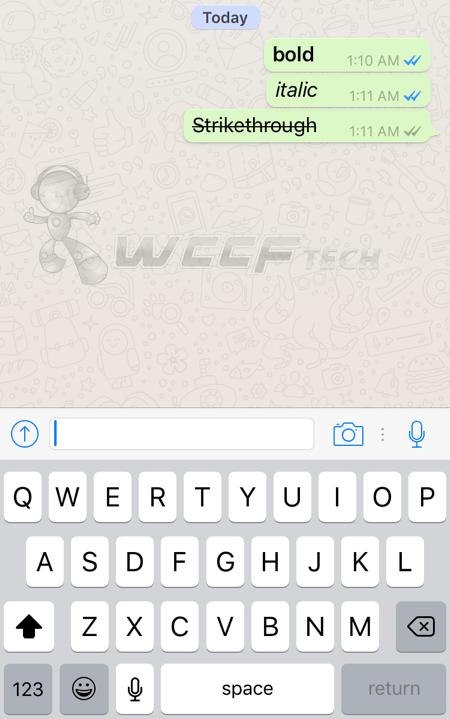 Bold Di Whatsapp : whatsapp, Bold,, Italic,, Strikethrough, WhatsApp