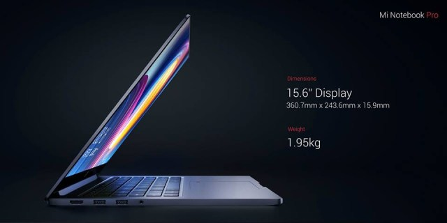 Xiaomi Mi Notebook Pro 16 Xiaomi Mi Notebook Pro is powered by Intel's 8th Generation chips