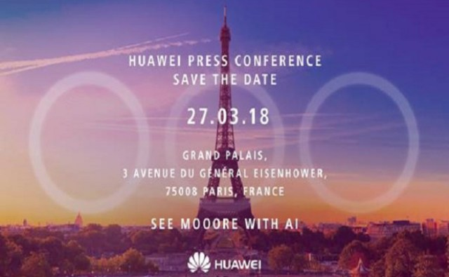 Huawei P20 March 27 invite Huawei will launch P20 & P20 Plus features with triple lens camera at an upcoming event in March