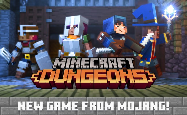 Minecraft Dungeons Announced Inspired By Classic Dungeon