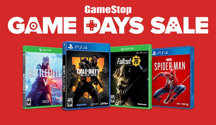 gamestop game days sale