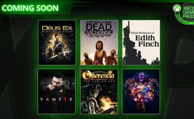 New Xbox Game Pass Titles Inbound Deus Ex Vampyr