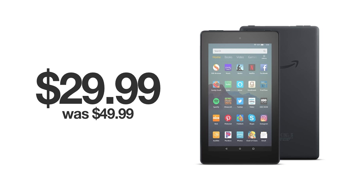 Amazon's $29.99 Fire 7 Tablet Deal for Black Friday 2019 is Crazy Good