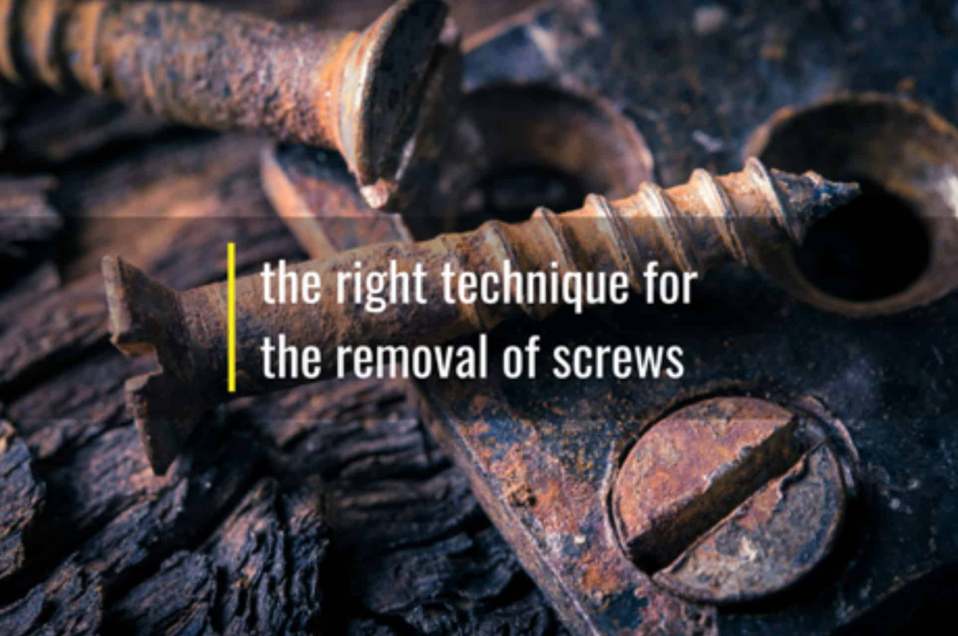 techniques for removal of