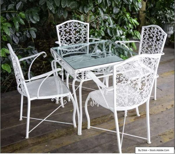 prevent rust on metal patio chairs with