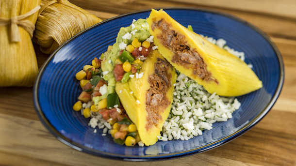 Shredded beef tamale
