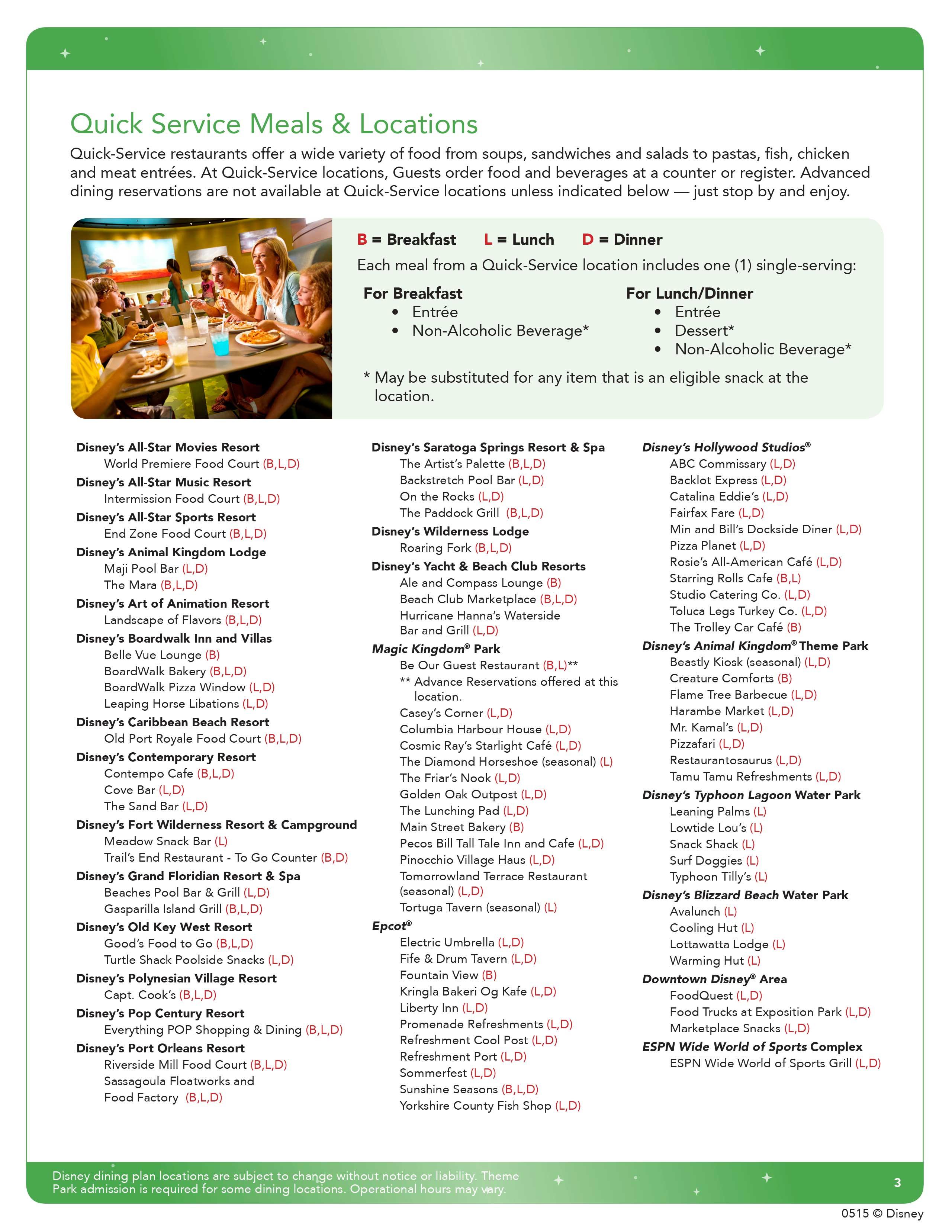 jul 10 2017 2016 disney quick service dining plan brochure page 3