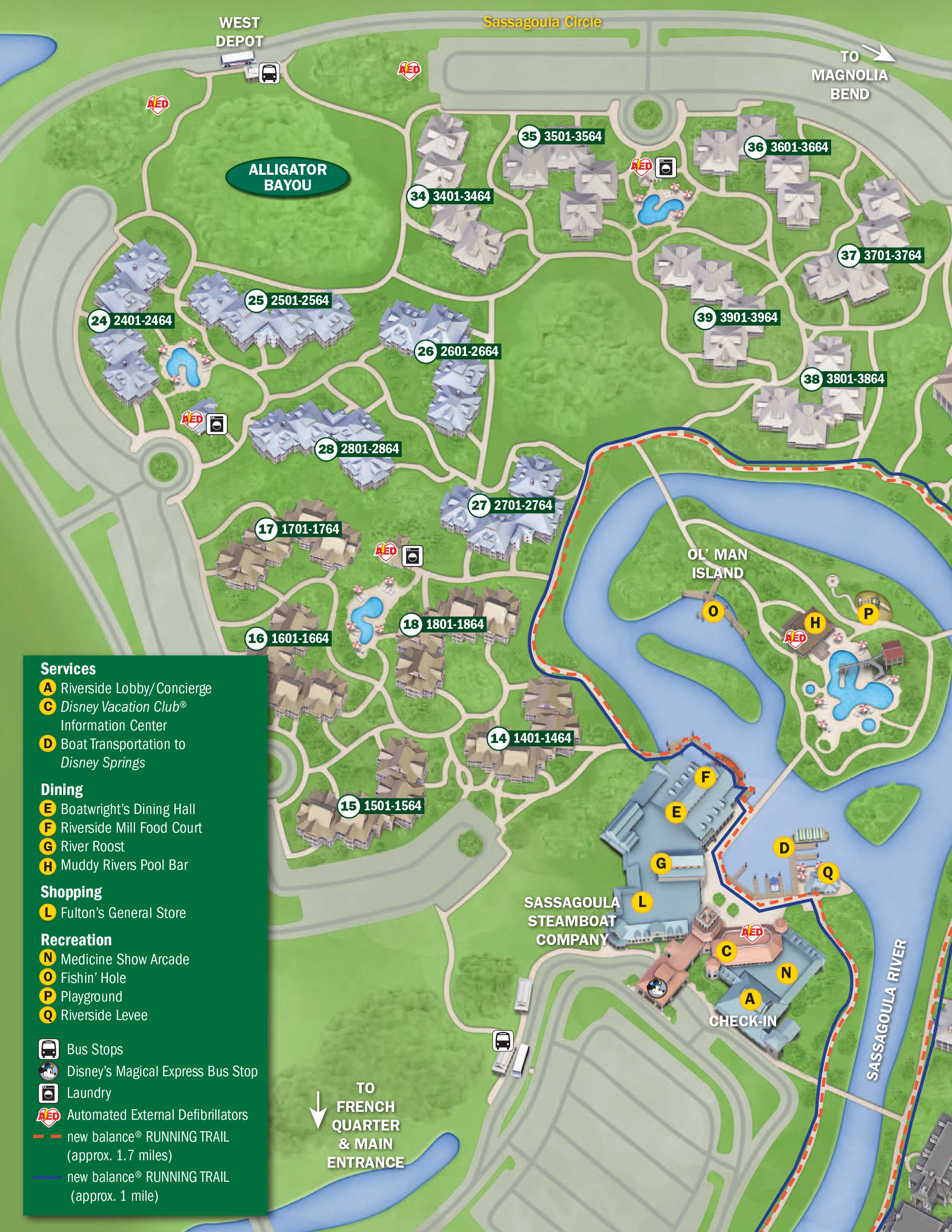 2017 Walt Disney World Resort Hotels Map