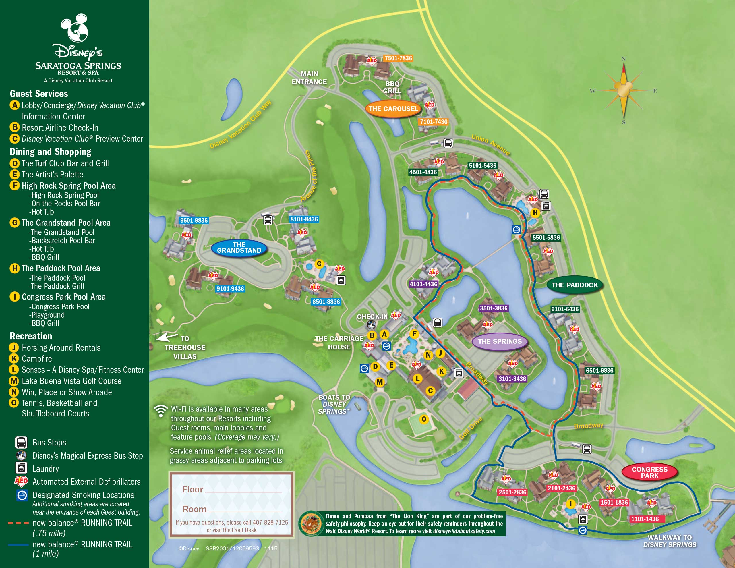April 2017 Walt Disney World Resort Hotel Maps - 30