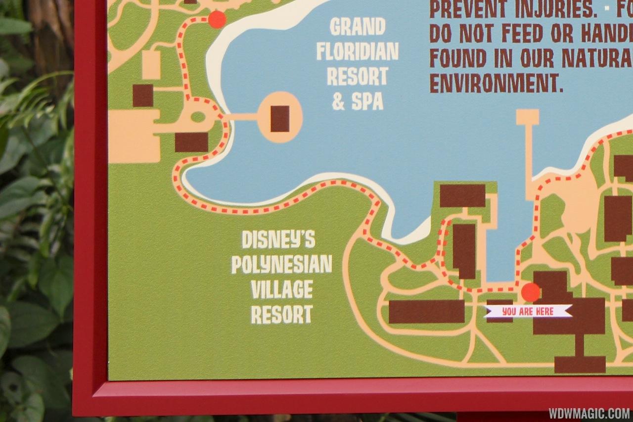 Disney' Polynesian Village Resort Signage - 1 Of 2