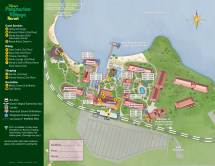 2014 Disney' Polynesian Village Resort Guide Map